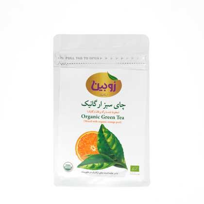 چاي سبز و برگ پرتقال زوبين