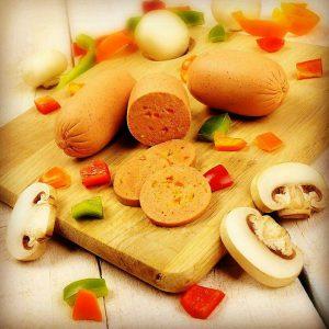 سوسیس گیاهی آلبرتا (قارچ وفلفل دلمه ای) نوپرو